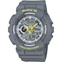 Damen Casio Baby-G Punching Pattern Alarm Chronograph Watch BA-110PP-8AER