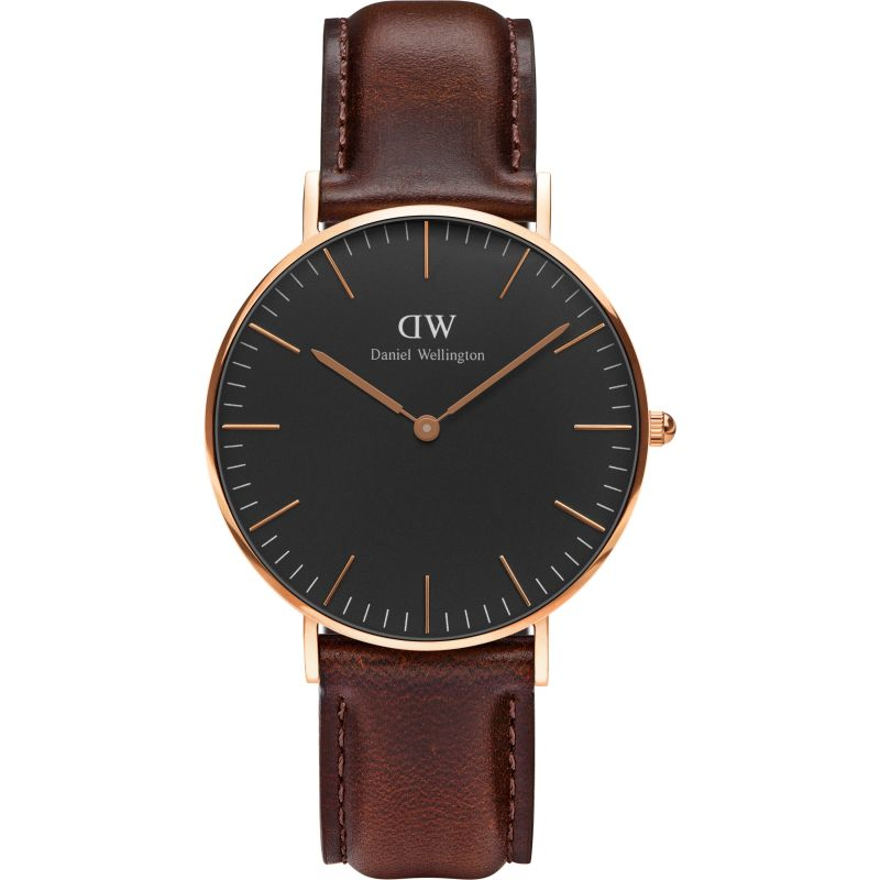 Unisex Daniel Wellington Classic Black Bristol Watch 36mm Watch DW00100137