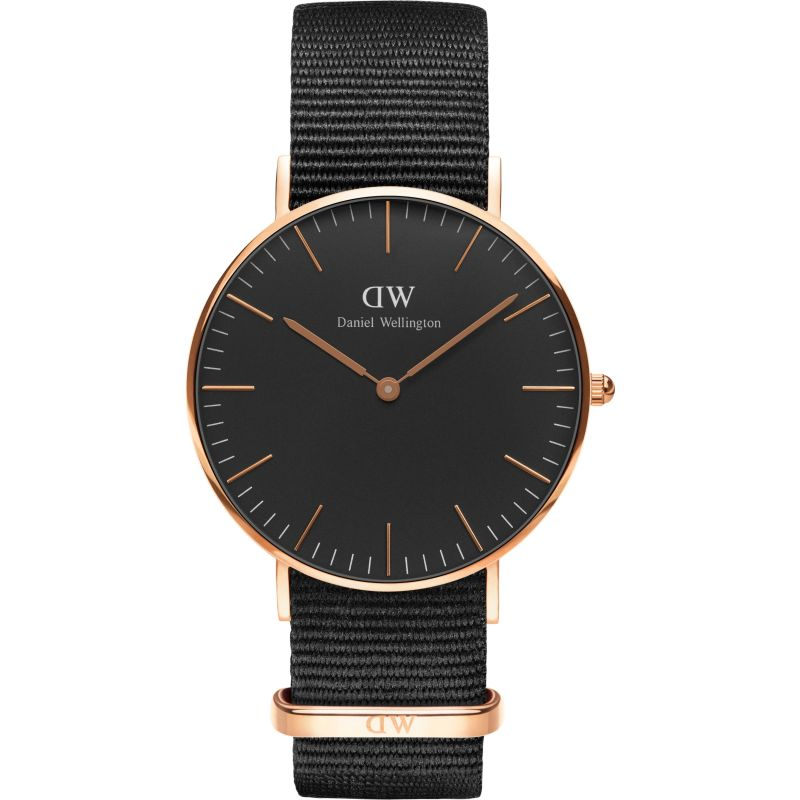 unisexe Daniel Wellington Classic Black Cornwall Watch 36mm Watch DW00100150