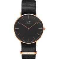 Unisex Daniel Wellington klassisch Schwarz Cornwall Uhr 36mm Uhr