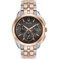 Herren Bulova Progressive Dress CURV Chronograf Uhr