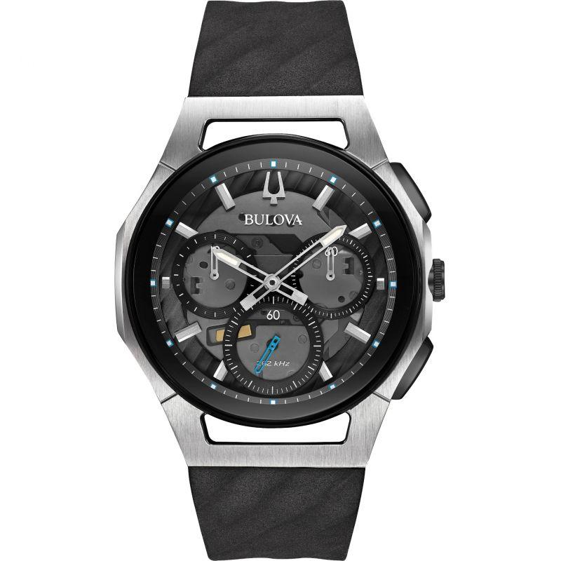 homme Bulova Progressive CURV Chronograph Watch 98A161