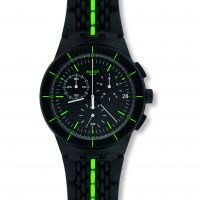 Mens Swatch Laser Track Chronograph Watch