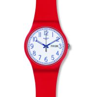 Swatch Red Me Up Unisexklocka Röd SUOR707