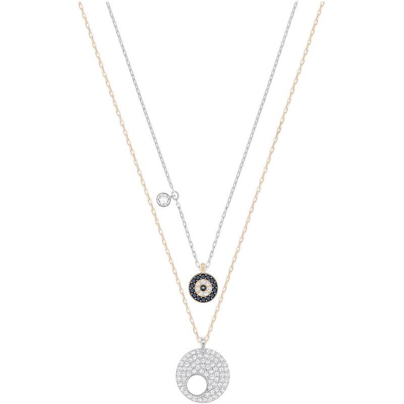 Ladies Swarovski Rhodium Plated Necklace 5272243