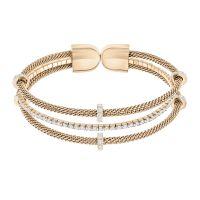 Damen Swarovski PVD Rosa plating Gate Armband