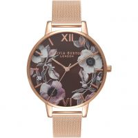 Ladies Olivia Burton Big Dial Floral Print Watch