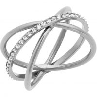 Damen Michael Kors Silber Plated Größe S Brilliance Ring