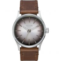 Nixon The Sentry 38 Leather Herenhorloge Bruin A377-2594