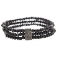 Mens Icon Brand Base metal Triple Bead Bracelet