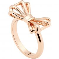Ladies Ted Baker Rose Gold Plated Sweetie Bow Ring Size ML