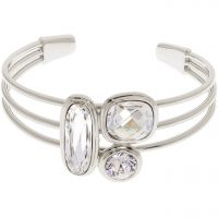 femme Karen Millen Jewellery Milano Stone Cluster Bangle Watch KMJ960-01-265