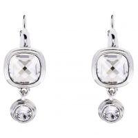 Ladies Karen Millen Silver Plated Milano Stone Double Earrings KMJ963-01-265