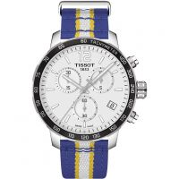 Herren Tissot Quickster NBA golden State Warriors Special Edition Chronograf Uhren