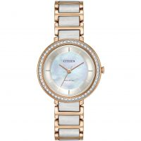 femme Citizen Silhouette Crystal Watch EM0483-89D