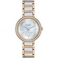 Damen Citizen Silhouette Crystal Eco-Drive Watch EM0483-89D