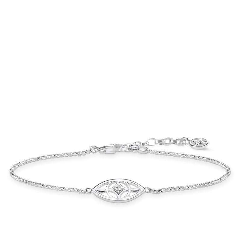 Ladies Thomas Sabo Sterling Silver Glam & Soul Diamond Bracelet A0019-725-21-L19V