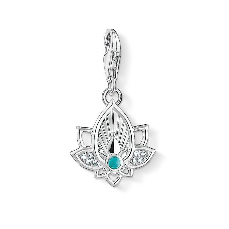Ladies Thomas Sabo Sterling Silver Charm Club Lotus charm 1446-405-14