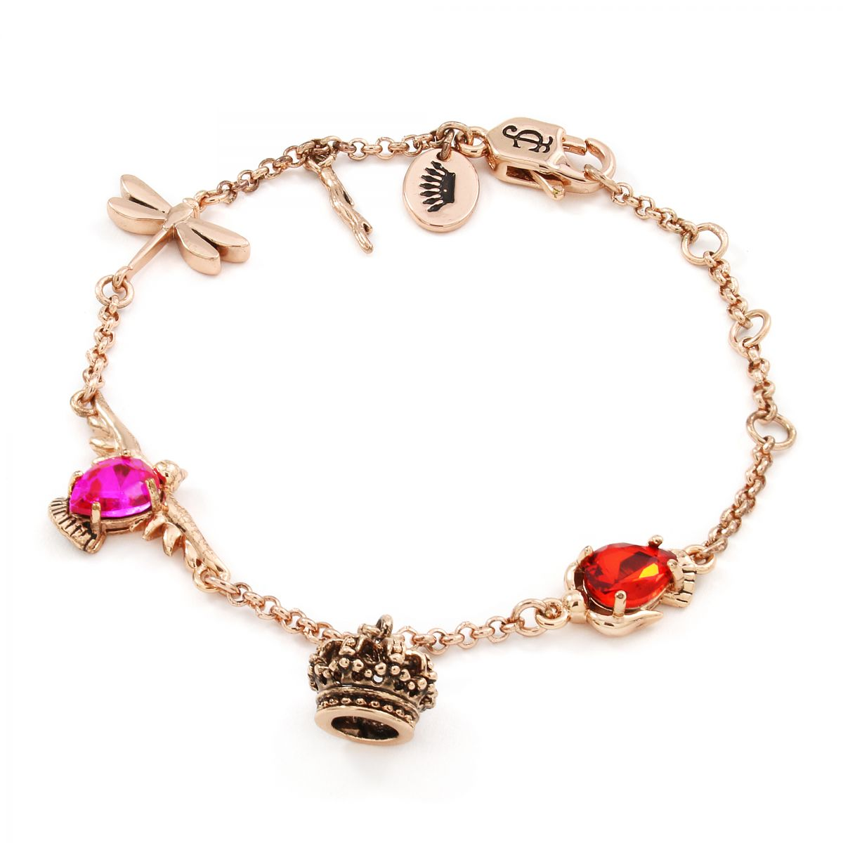 Ladies Juicy Couture Jewellery Rose Gold Plated Enchanted Charm