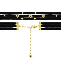 Ladies Juicy Couture PVD Gold plated Layered Starburst Choker Necklace