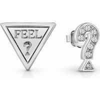 Ladies Guess Rhodium Plated FeelGuess Earrings