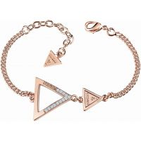 Ladies Guess Rose Gold Plated Iconic 3Angles Bracelet