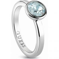 Ladies Guess Rhodium Plated Miami Ring