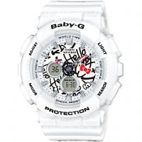 Femmes Casio Baby-G x Hello Chat Special Édition Alarme Chronographe Montre