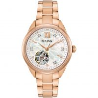 Bulova Automatic Dameshorloge Rose 97P121