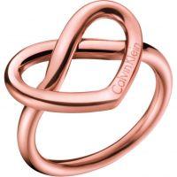 Damen Calvin Klein Rose vergoldet charmant Ring Größe O