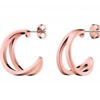 Damen Calvin Klein Rose vergoldet Outline Ohrringe
