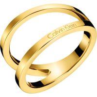 Damen Calvin Klein vergoldet Outline Ring Größe P