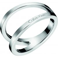 Ladies Calvin Klein Stainless Steel Size N Outline Ring