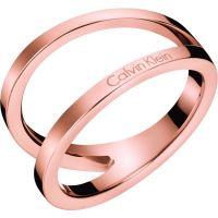Damen Calvin Klein Rose vergoldet Outline Ring Größe L.5