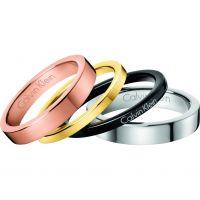 Damen Calvin Klein Multi colour gold Gorgeous Set of 4 Rings Größe O