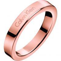Damen Calvin Klein Rose vergoldet Größe L Hook Ring