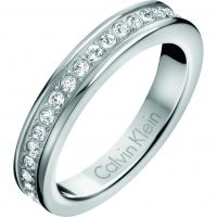 Ladies Calvin Klein Stainless Steel Size L Hook Ring