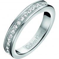Damen Calvin Klein Edelstahl Hook Ring Größe P