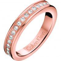 Damen Calvin Klein Rose vergoldet Größe P Hook Ring