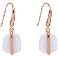 Ladies Lola Rose Rose Gold Plated Bassa Blue Lace Agate Earrings