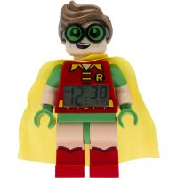 Kinder LEGO Batman Movie Robin minifigure clock Alarm Watch 9009358