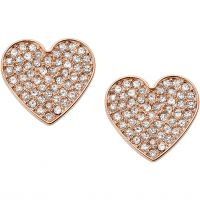 femme Fossil Jewellery Vintage Glitz Heart Earrings Watch JF02676791