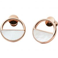 Skagen Dam Elin Mother Of Pearl Stud Earrings Roséguldspläterad SKJ0998791