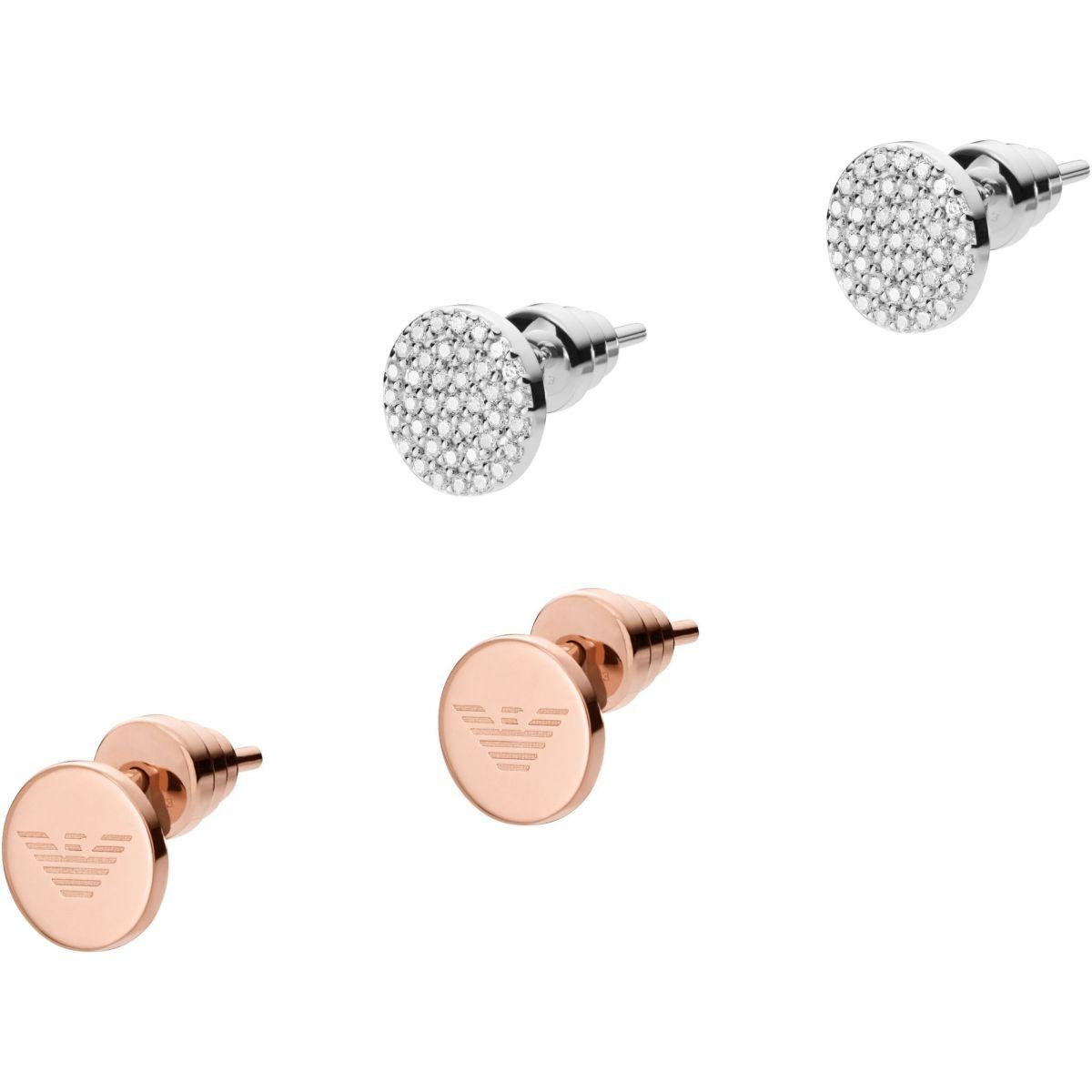 268feac3e2 Gioielli da Donna Emporio Armani Jewellery Pave Disc Stud Earrings Set  EG3333040