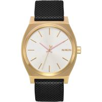 Ladies Nixon The Medium Time Teller Leather Watch