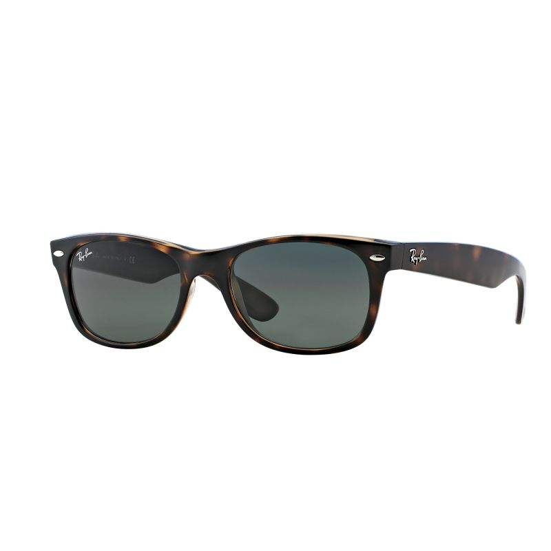 Mens Ray-Ban Tortoise/Green Classic G15 New Wayfarer Classic Sunglasses RB2132-902-52
