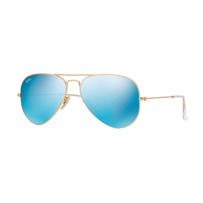 Mens Ray-Ban Aviator Flash Lens Sunglasses RB3025-112/17-58