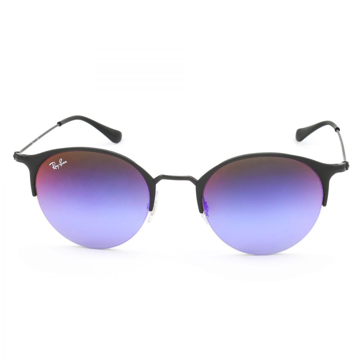 RAY BAN RAY-BAN Damen Sonnenbrille » RB3578«, schwarz, 186/B1 - schwarz/blau