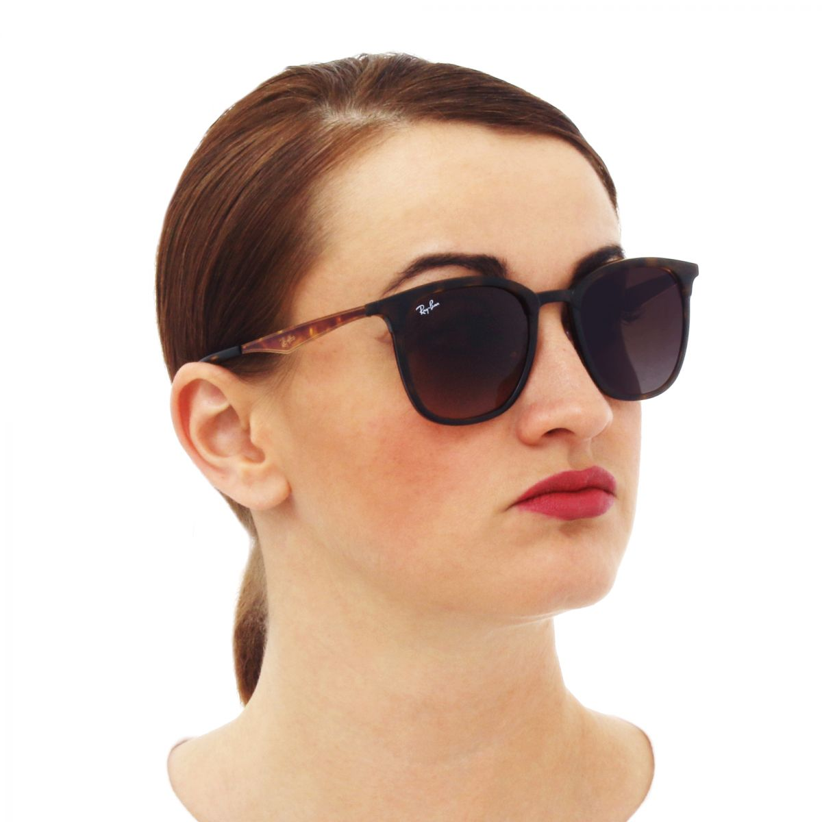 a826e91026 ray ban rb4278,Ray-Ban RB 4278 62829A Black Matte Black Plastic Sunglasses  Green .