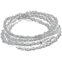 Damen Nine West Silber Plated dehnbar Armband
